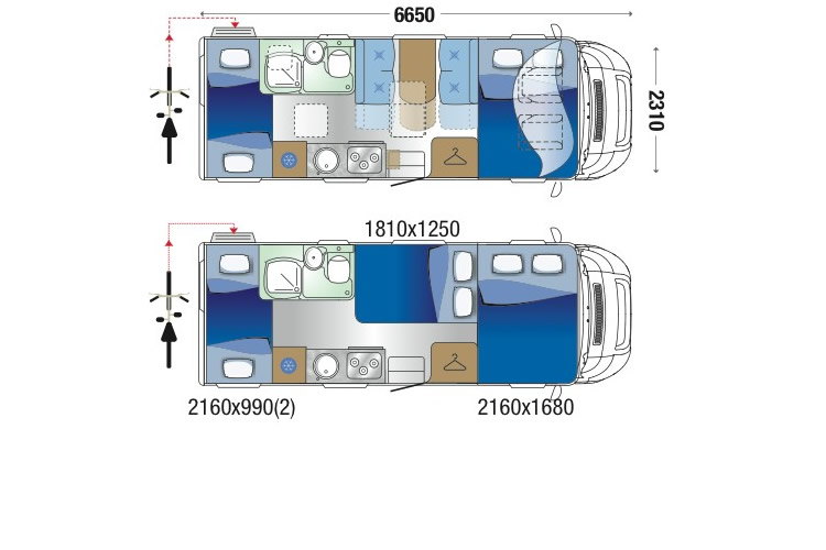 Zefiro 675 Floor Plan